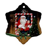 Ho Ho Ho Snowflake Ornament (2 Sided) - Snowflake Ornament (Two Sides)