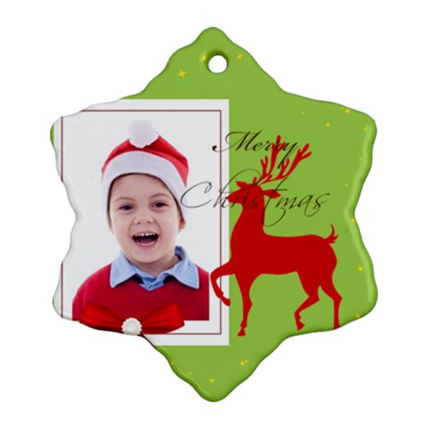 Merry Christmas By Clince   Ornament (snowflake)   D94forlft889   Www Artscow Com Front