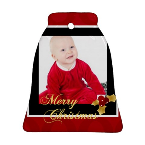 Merry Christmas By Clince   Ornament (bell)   K4bw1ommp497   Www Artscow Com Front
