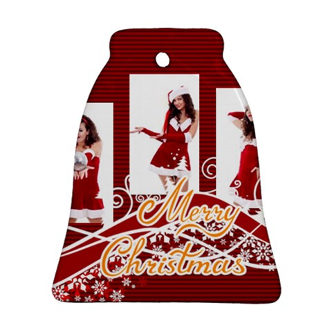 Merry Christmas By Clince   Ornament (bell)   H0d1n50k5gk0   Www Artscow Com Front