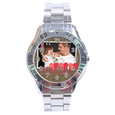 Merry Christmas By Jo Jo   Stainless Steel Analogue Watch   C4u0g481da9s   Www Artscow Com Front