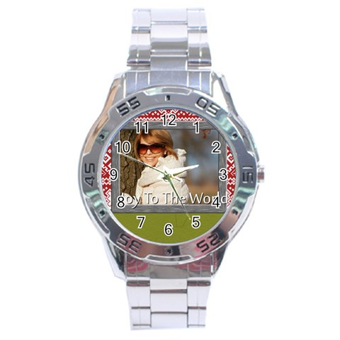 Merry Christmas By Clince   Stainless Steel Analogue Watch   Pkysaq2lyrf3   Www Artscow Com Front