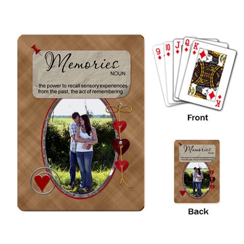 Memories Playing Cards By Lil    Playing Cards Single Design   Eavi2gwpohz3   Www Artscow Com Back