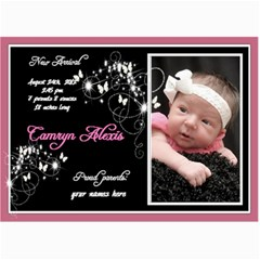 7x5 Birth Announcement Photo Card By Laurrie   5  X 7  Photo Cards   40mhxiz42c1g   Www Artscow Com 7 x5 Photo Card - 8