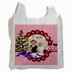 Merry Christmas By Joely   Recycle Bag (two Side)   Liqrygsa1dv3   Www Artscow Com Front