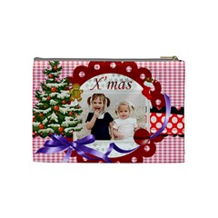 Merry Christmas By Joely   Cosmetic Bag (medium)   66yeei6ral3x   Www Artscow Com Back
