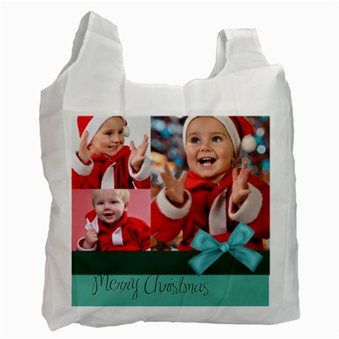 Merry Christmas By Man   Recycle Bag (one Side)   E2n7x42sjpjw   Www Artscow Com Front