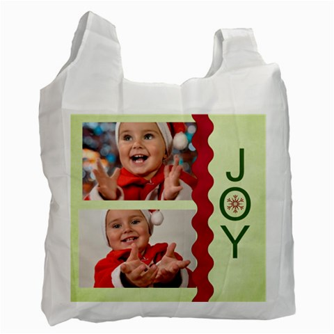Merry Christmas By Man   Recycle Bag (one Side)   495wtrf2ptsl   Www Artscow Com Front