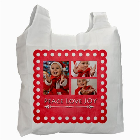 Merry Christmas By Man   Recycle Bag (one Side)   P203vqkrn080   Www Artscow Com Front