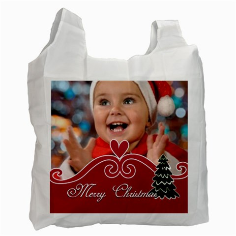 Merry Christmas By Man   Recycle Bag (one Side)   N5j5cmgf413j   Www Artscow Com Front