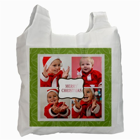 Merry Christmas By Man   Recycle Bag (one Side)   M7oip8psj0ye   Www Artscow Com Front