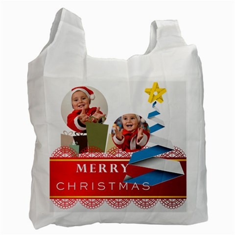Merry Christmas By Man   Recycle Bag (one Side)   Tdm68cao2j7h   Www Artscow Com Front