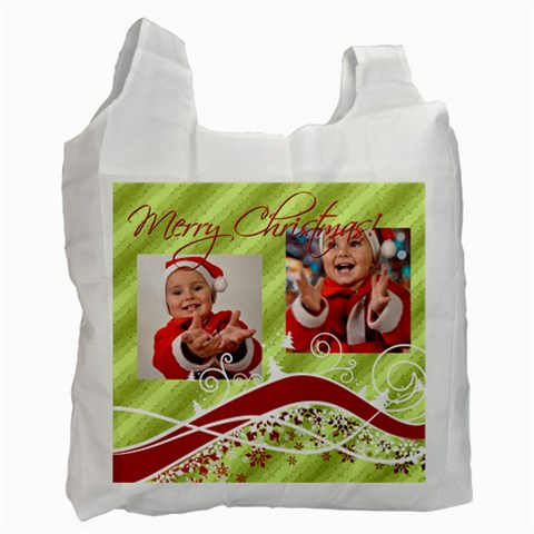 Merry Christmas By Man   Recycle Bag (one Side)   Ijwyrvs8lnh4   Www Artscow Com Front