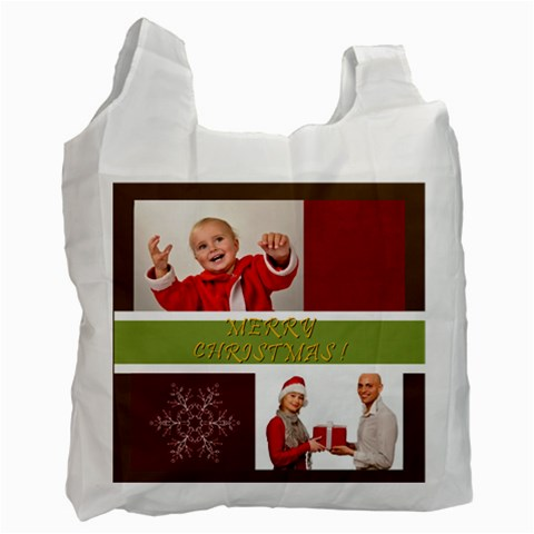 Merry Christmas By Man   Recycle Bag (one Side)   9u6xg5tkt194   Www Artscow Com Front