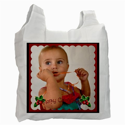 Merry Christmas By Man   Recycle Bag (one Side)   4rjy0zzla1hn   Www Artscow Com Front