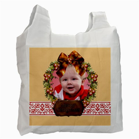 Merry Christmas By Man   Recycle Bag (one Side)   Oxl1equiwod4   Www Artscow Com Front