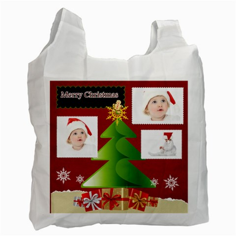 Merry Christmas By Betty   Recycle Bag (one Side)   2tipu2dxcup2   Www Artscow Com Front