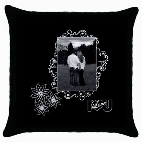 Black White Love Throw Pillow By Ellan   Throw Pillow Case (black)   9ydsm5lwx2o9   Www Artscow Com Front