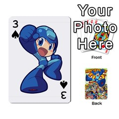 Mega Man By Cheesedork   Playing Cards 54 Designs   Smlvwcjcpd6r   Www Artscow Com Front - Spade3