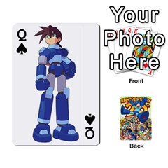 Queen Mega Man By Cheesedork   Playing Cards 54 Designs   Smlvwcjcpd6r   Www Artscow Com Front - SpadeQ