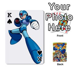 King Mega Man By Cheesedork   Playing Cards 54 Designs   Smlvwcjcpd6r   Www Artscow Com Front - SpadeK