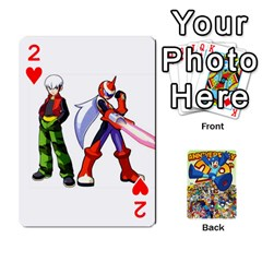 Mega Man By Cheesedork   Playing Cards 54 Designs   Smlvwcjcpd6r   Www Artscow Com Front - Heart2