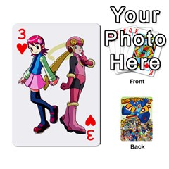 Mega Man By Cheesedork   Playing Cards 54 Designs   Smlvwcjcpd6r   Www Artscow Com Front - Heart3