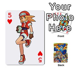 Mega Man By Cheesedork   Playing Cards 54 Designs   Smlvwcjcpd6r   Www Artscow Com Front - Heart5