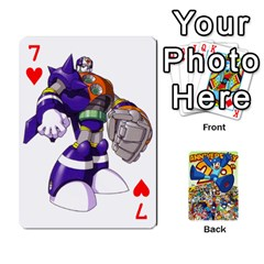 Mega Man By Cheesedork   Playing Cards 54 Designs   Smlvwcjcpd6r   Www Artscow Com Front - Heart7