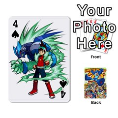 Mega Man By Cheesedork   Playing Cards 54 Designs   Smlvwcjcpd6r   Www Artscow Com Front - Spade4