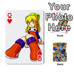 Queen Mega Man By Cheesedork   Playing Cards 54 Designs   Smlvwcjcpd6r   Www Artscow Com Front - HeartQ
