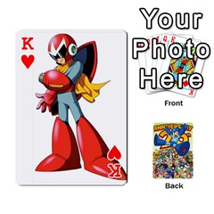 King Mega Man By Cheesedork   Playing Cards 54 Designs   Smlvwcjcpd6r   Www Artscow Com Front - HeartK