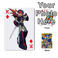 King Mega Man By Cheesedork   Playing Cards 54 Designs   Smlvwcjcpd6r   Www Artscow Com Front - DiamondK