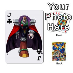 Jack Mega Man By Cheesedork   Playing Cards 54 Designs   Smlvwcjcpd6r   Www Artscow Com Front - ClubJ