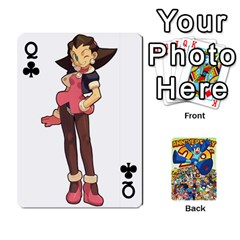 Queen Mega Man By Cheesedork   Playing Cards 54 Designs   Smlvwcjcpd6r   Www Artscow Com Front - ClubQ