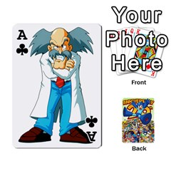 Ace Mega Man By Cheesedork   Playing Cards 54 Designs   Smlvwcjcpd6r   Www Artscow Com Front - ClubA