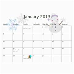 Kara Ricky 2013 By Angeline Petrillo   Wall Calendar 11  X 8 5  (12 Months)   Zc70cr4wxhqo   Www Artscow Com Jan 2013