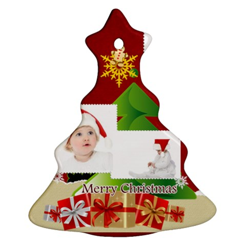 Merry Christmas By Betty   Ornament (christmas Tree)    Qzanbzcmkwem   Www Artscow Com Front