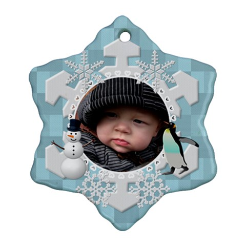 Winter Snowflake Ornament (1 Sided) By Lil    Ornament (snowflake)   Bb7dfgdslt41   Www Artscow Com Front
