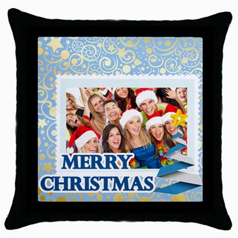 Merry Christmas By Angena Jolin   Throw Pillow Case (black)   Lm8f6c5izamh   Www Artscow Com Front