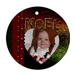 Noel Round Ornament (2 Sided) - Round Ornament (Two Sides)
