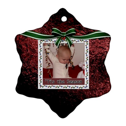 Tis The Season Ornament (1 Sided) By Lil    Ornament (snowflake)   Akjp3q45itmm   Www Artscow Com Front