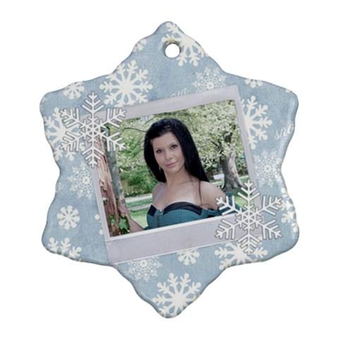 Koleda6 By Greta Velikova   Ornament (snowflake)   L9x4gesmn3yt   Www Artscow Com Front