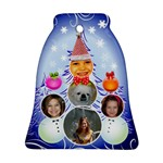 snowman family bell ornament - Ornament (Bell)