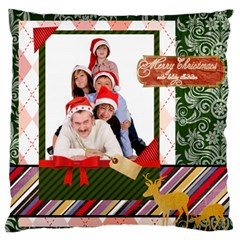 Merry Christmas By Betty   Large Cushion Case (two Sides)   4yrfyt7rwutg   Www Artscow Com Front