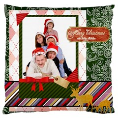 Merry Christmas By Betty   Large Cushion Case (two Sides)   4yrfyt7rwutg   Www Artscow Com Back