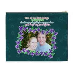 Hug The Person You Love  By Digitalkeepsakes   Cosmetic Bag (xl)   73p9sq0z6j5i   Www Artscow Com Back