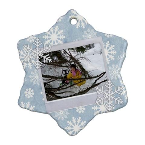 Presi By Penka Mihaylova   Ornament (snowflake)   Dpflncm5v2ih   Www Artscow Com Front
