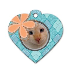 Argyle Tag By Digitalkeepsakes   Dog Tag Heart (two Sides)   Zxd21cbv3jbz   Www Artscow Com Front
