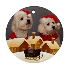 Christmas Village Round Ornament (2 Sided) By Deborah   Round Ornament (two Sides)   Thhe6v5rnsc8   Www Artscow Com Front